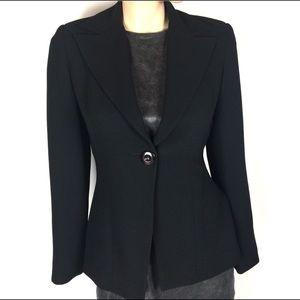 Bene Single Button Black Jacket Blazer Size 6